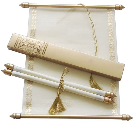how to make scroll wedding invitations scroll wedding invitation wedding scrolls s865 ebay