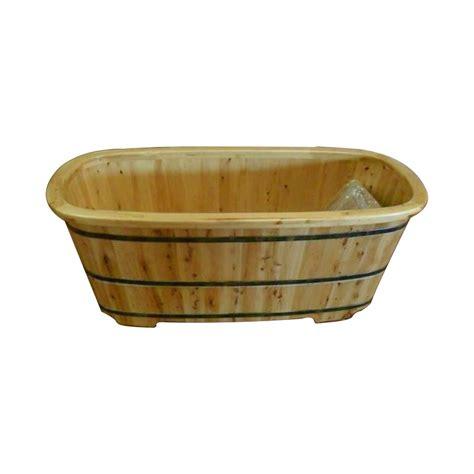 vasca da bagno in legno vasca da bagno in legno trinita 160x72 cm colore naturale