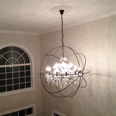 restoration hardware chandelier restoration hardware focault orb chandelier foyer