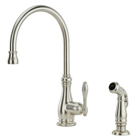 pfister kitchen faucet pfister f 029 4hys stainless steel alina kitchen faucet with sidespray faucetdirect