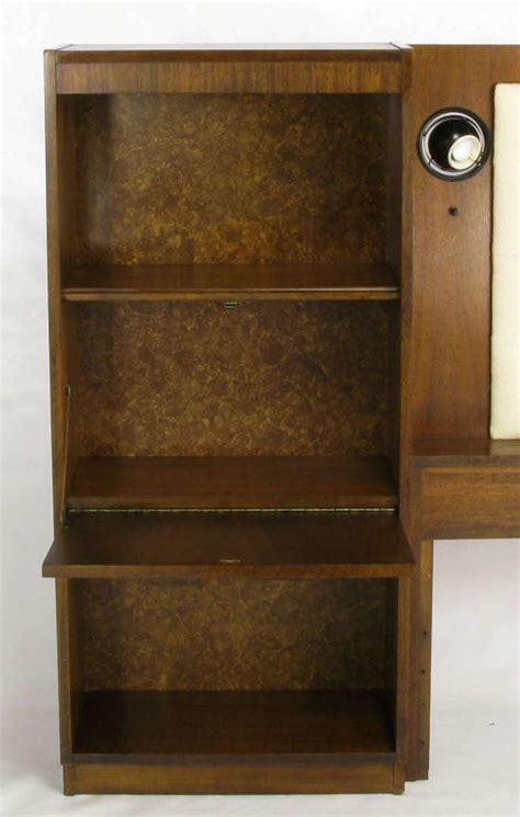 upholstered king headboard  walnut  block front