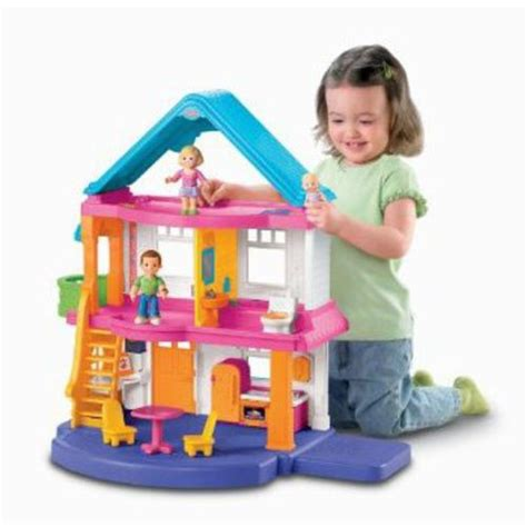 fisher price my first dolls house fisher price my first dollhouse walmart com