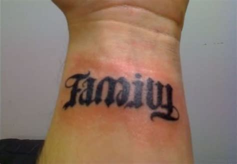 ambigram wrist tattoos 51 pretty family wording tattoos on wrist