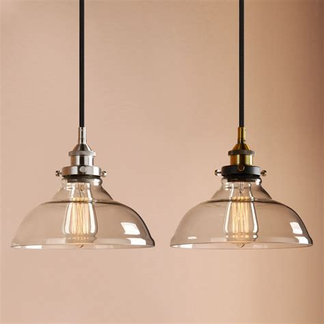 Industrial Pendant Lighting Uk Permo 10 Quot Clear Glass Edison Retro Industrial Pendant Light Loft Ceiling L Uk Ebay