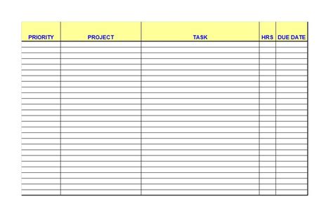 Checklist Template 50 printable to do list checklist templates excel word