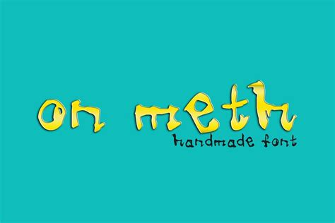 Handcrafted Fonts - free meth handmade font creativetacos