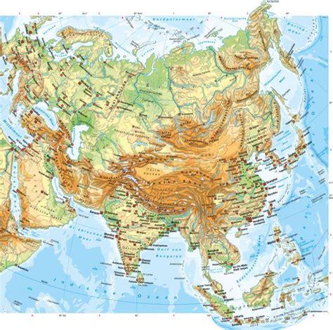 Asiat Gebirge by Diercke Weltatlas Kartenansicht Asien Physische