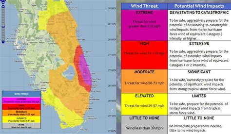 hurricane map florida weather service to provide map of hazards you ll in a