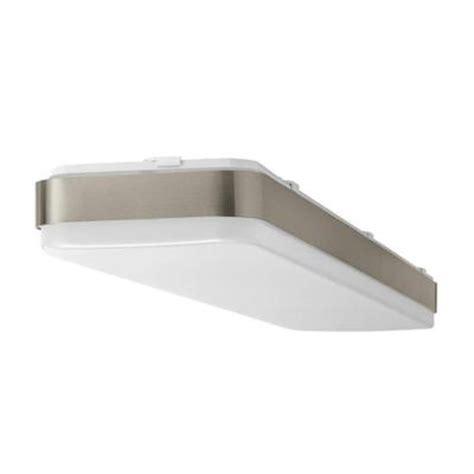 led ceiling lights home depot hton bay 4 ft x 1 ft brushed nickel led linear