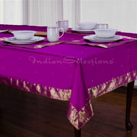 Handmade Table Cloths - violet handmade sari tablecloth india