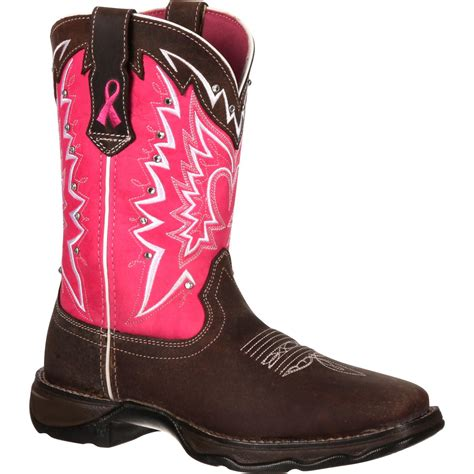 western womens boots durango s pink ribbon cancer benefit western boots
