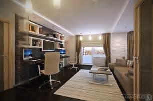 White brown home office design olpos design