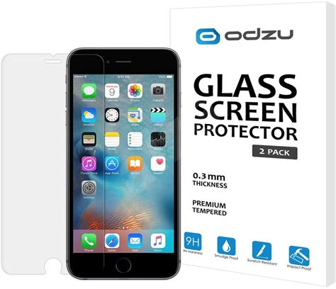 Iphone 66s Tempered Glass Screen Cover Diskon odzu glass screen protector for iphone 6s tempered glass screen protector alzashop