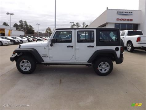 Jeep Right Drive Bright White 2013 Jeep Wrangler Unlimited Sport 4x4 Right