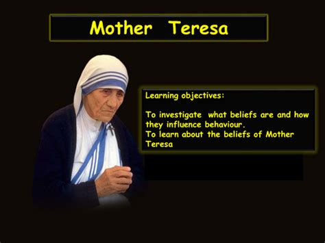 Mother Teresa Biography For Powerpoint | inspirational people mother theresa by cordeycornflakes