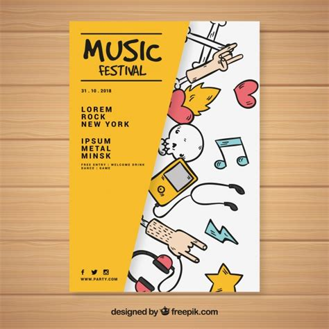creative templates for posters music vectors photos and psd files free download