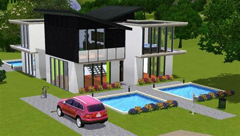 sims 3 maison moderne et blanche house black and white architecture maison house jeu