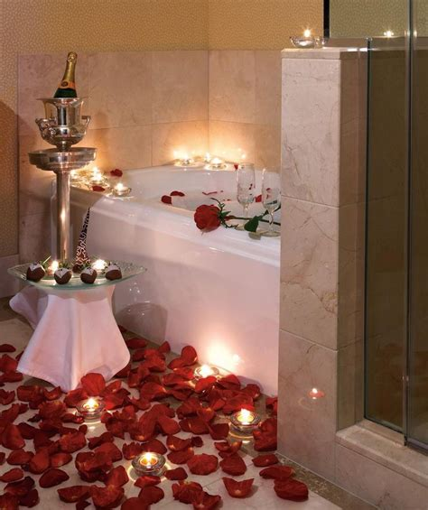 romantic bathtub ideas romantic rose petal bath with chagne and strawberries