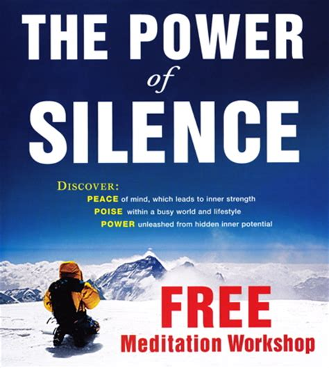 power  silence  meditation classes   york
