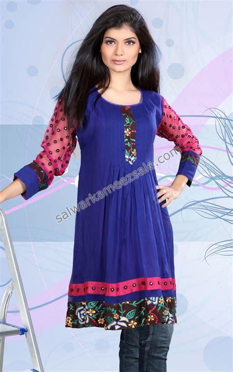net pattern kurti tunic with pockets