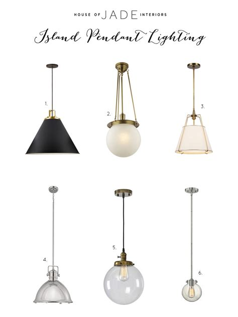 Island Lighting Pendants Selecting The Right Lighting For Your Kitchen Island House Of Jade Interiors