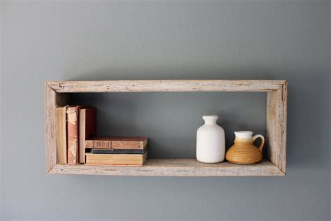 On Shelf In A Box by Rustic Wood Box Shelf By Houseinhabit On Etsy
