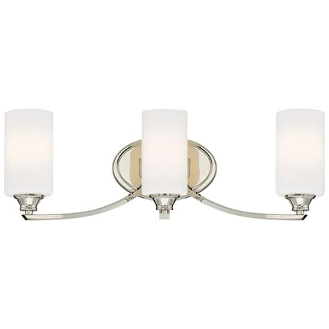 polished nickel bathroom lighting minka lavery tilbury 3 light polished nickel bath vanity