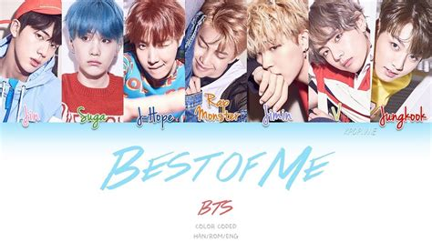 bts best of me bts ft the chainsmokers best of me color coded han