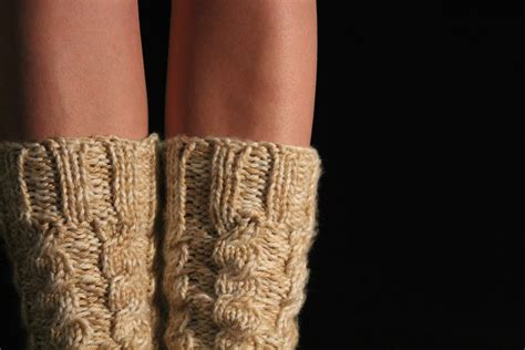 knitted boot socks free pattern chunky cabled legwarmers boot socks free knitting pattern