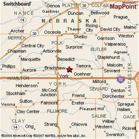map of waco area waco nebraska