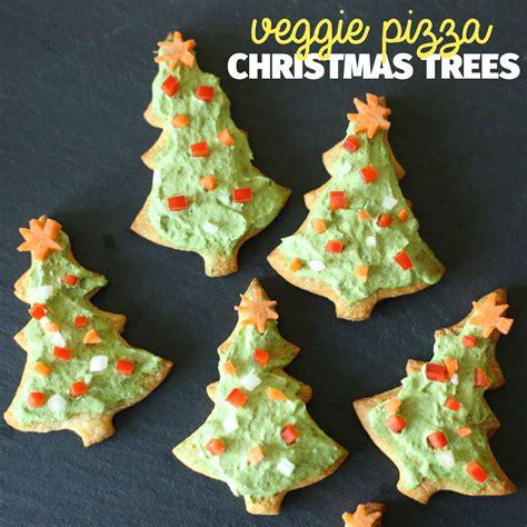 veggie pizza christmas trees paintbrushes popsicles