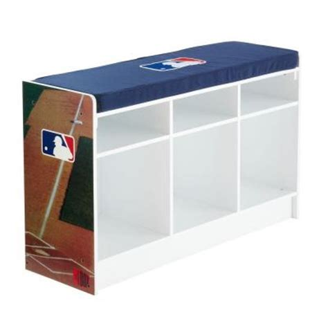 3 cube storage bench myownersbox mlb cubeits 36 in x 22 in white 3 cube bench