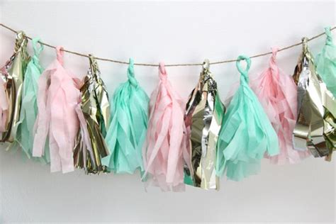 How To Make Tissue Paper Garland - how to make tissue paper tassel garland smashed peas