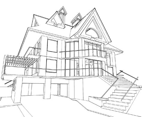 architecture house drawing home design ideas