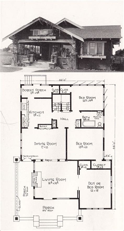 home floor plans california 1918 bungalow house plan by e w stillwell los angeles