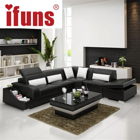 sofas en l modernos ifuns recliner leather corner sofa set european style l