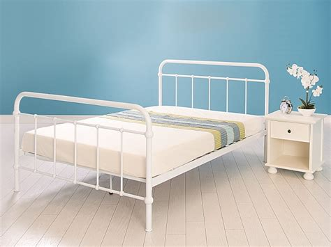 Single White Metal Bed Frame Gfw 3ft Single Gloss White Metal Bed Frame By Gfw