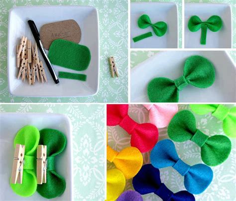 Handmade Crafts Ideas - diy easy felt bow fabdiy