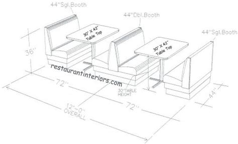 Kitchen Booth Measurements The World S Catalog Of Ideas