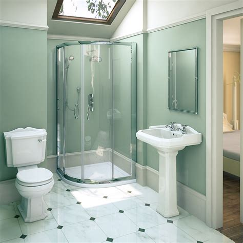 Shower Bath Bathroom Suites 900 X 900mm Ella Shower Quadrant Oxford En Suite Set At Plumbing Uk