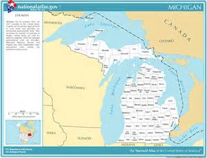 Michigan Time Zone Map by Time Zones And County Information For Cities In Michigan