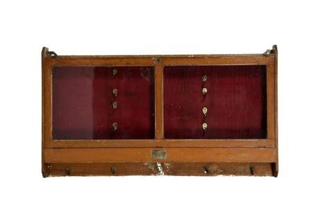 wall mounted gun cabinet an oak glazed wall mounted gun cabinet lined with red felt