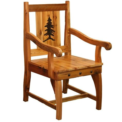 western captains chair country rustic wood log cabin kitchen furniture decor ebay