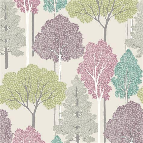 wallpaper tree design uk arthouse ellwood tree pattern forest leaves glitter