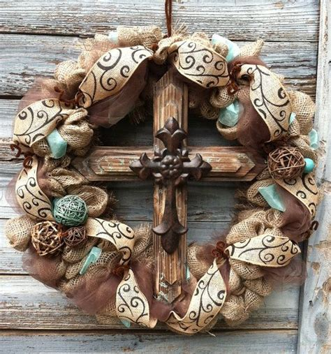 Western Rustic Home Decor Rustic Western Decor Rustic Western Inspired Cross Wreath By Homemadesouthern On Etsy 125