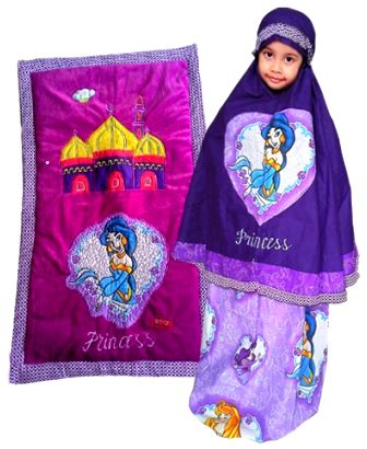 Mukena Princess Garden Ungu S perlengkapan shalat