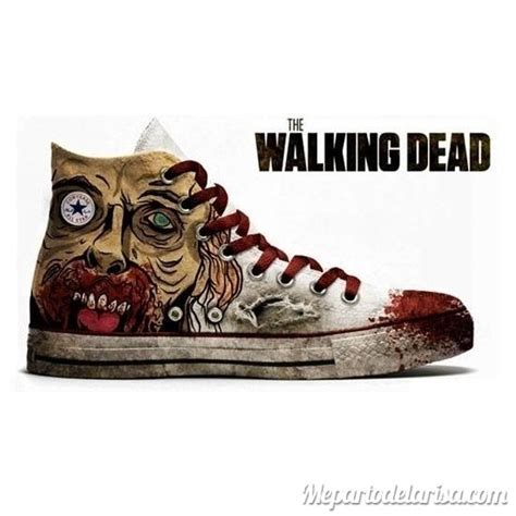 the walking dead shoes humor y risas a