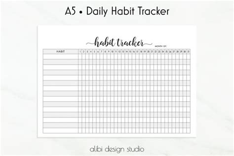 printable habit tracker journal habit tracker printable pictures to pin on