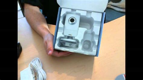 camara axis m1011 axis m1011 w wireless network camera unboxing youtube
