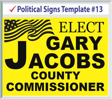 political yard signs templates
